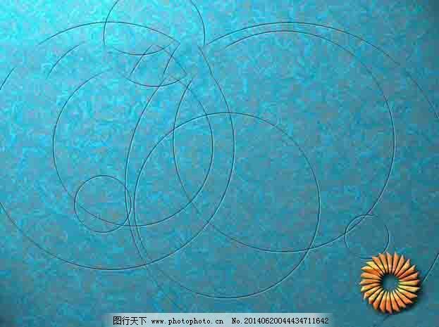 蓝色向日葵ppt模板