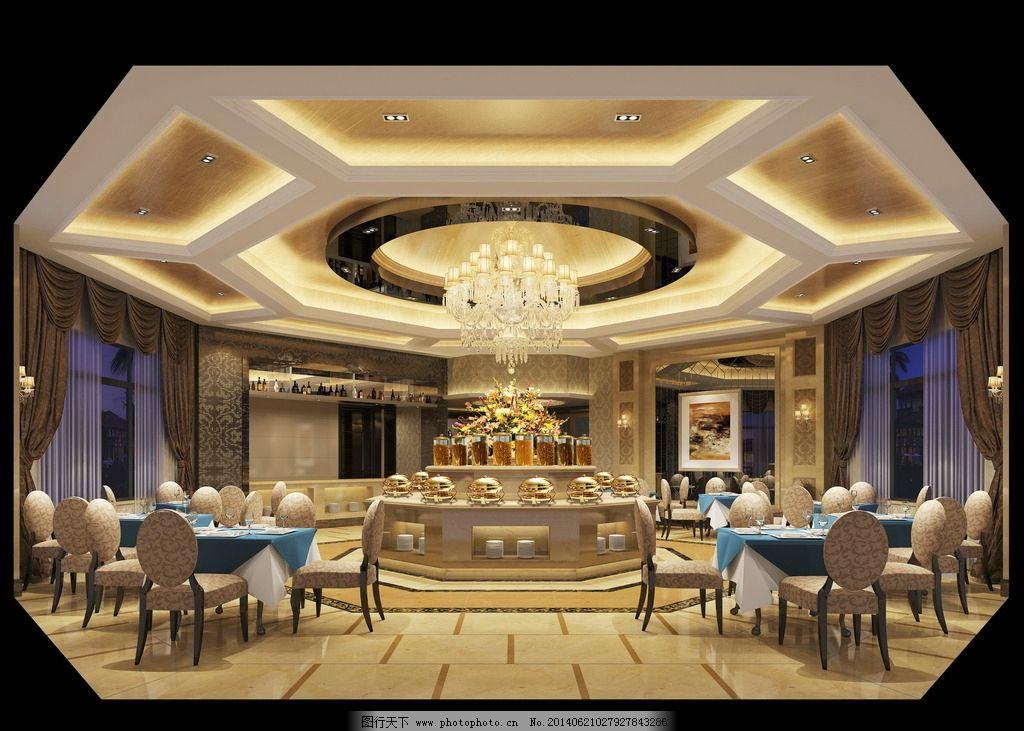 西餐厅效果图 西餐厅 酒店西餐厅 酒店 酒店效果图 欧式餐厅 室内设计