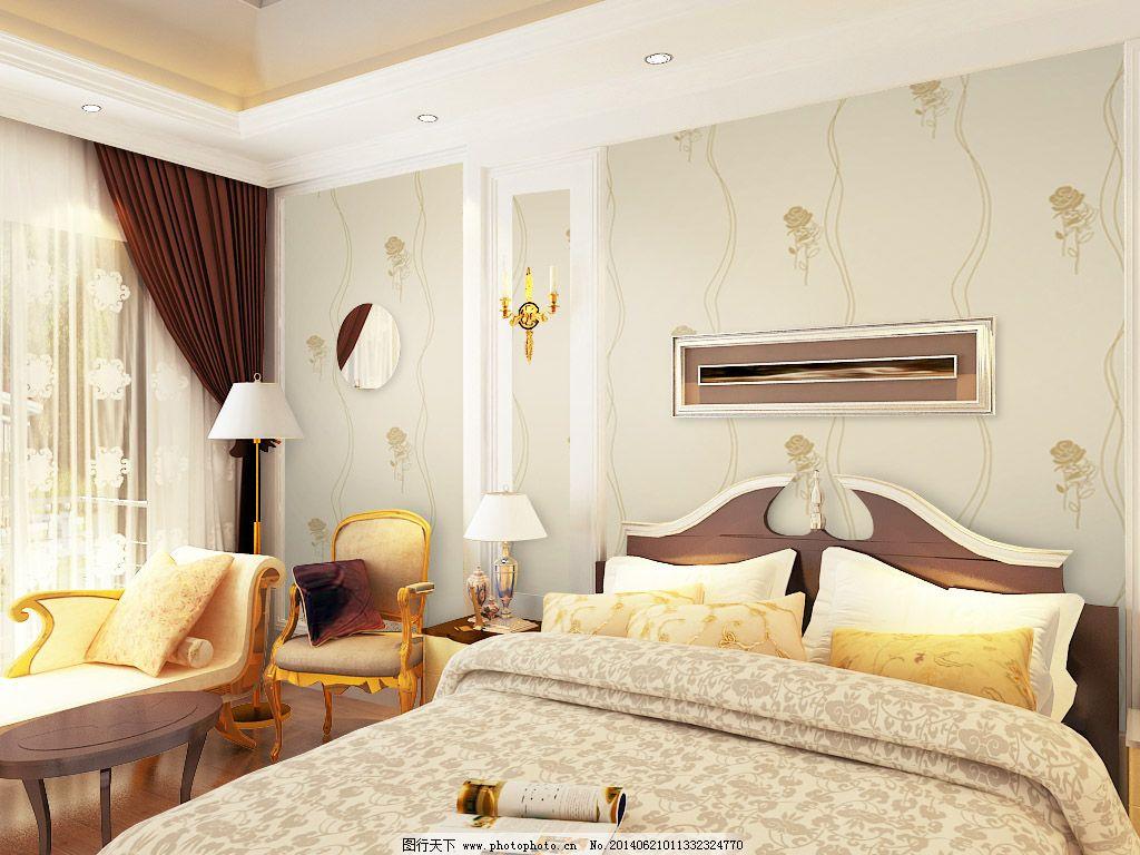 素材 室内设计  室内沙发花朵背景淡雅设计免费下载