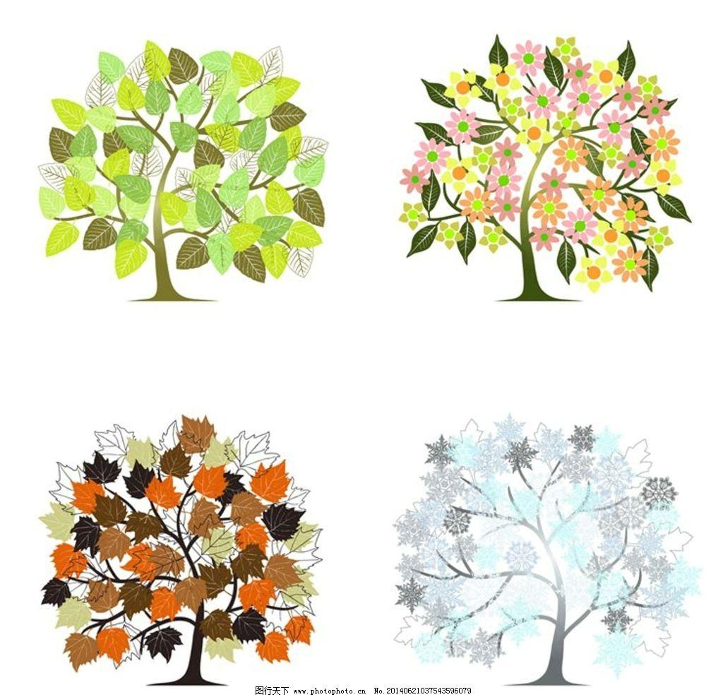 秋天的简笔画大树