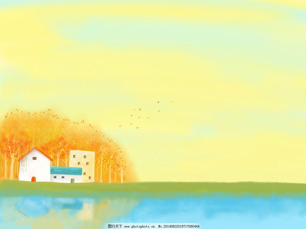 黄色天空卡通背景