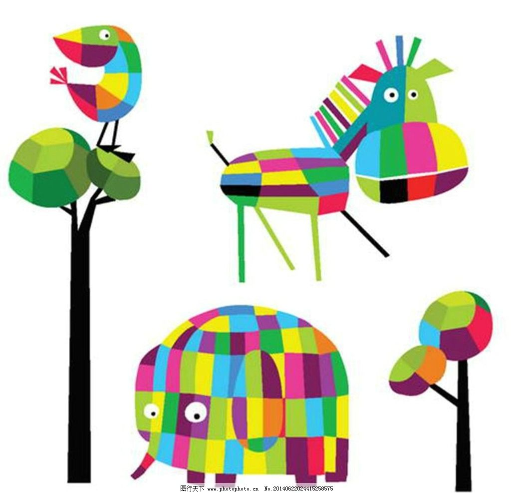 小动物风筝图案