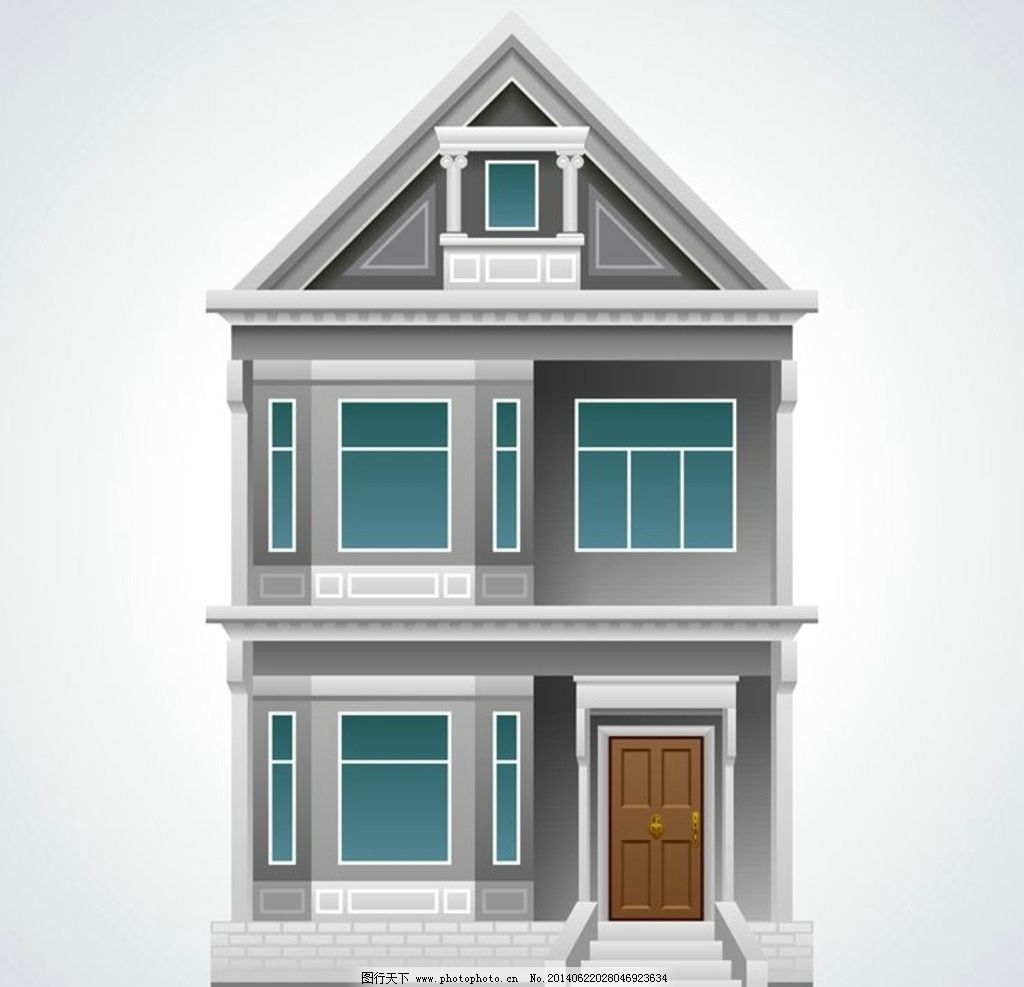 设计图库 环境设计 建筑设计  豪宅别墅房屋建筑模型 咖啡店 商店建筑