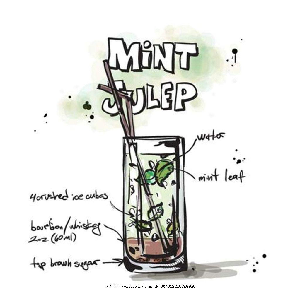 手绘 果汁 插画 饮料图片