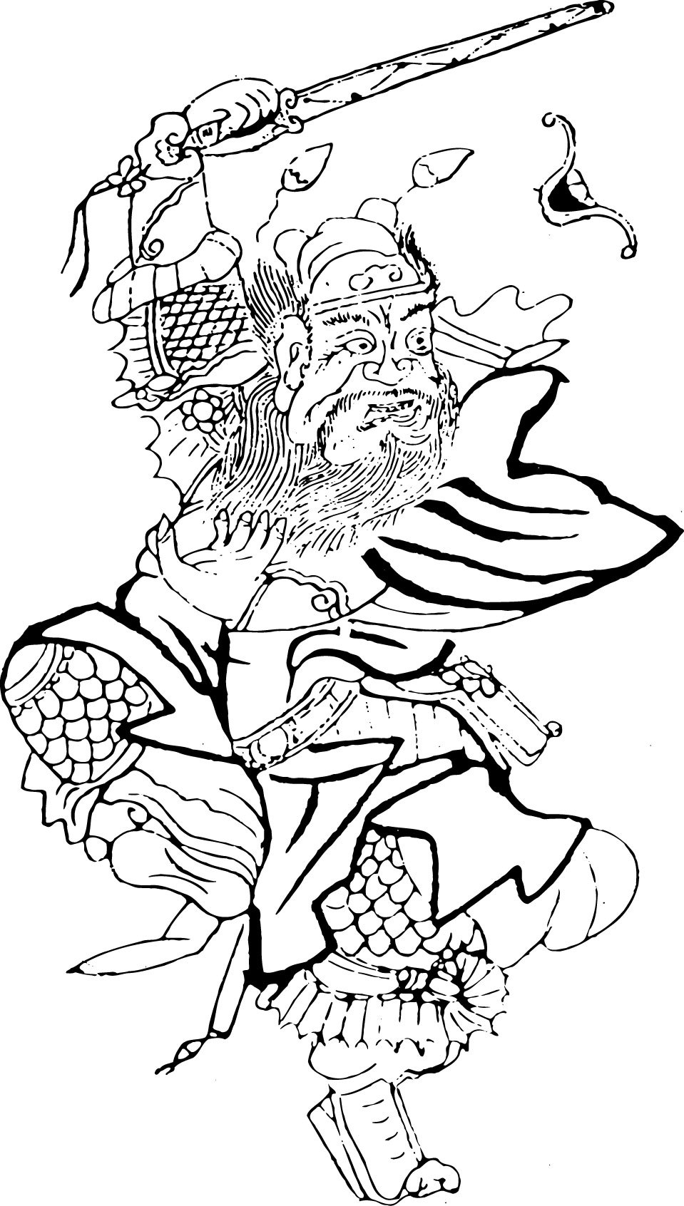古代传统人物矢量图