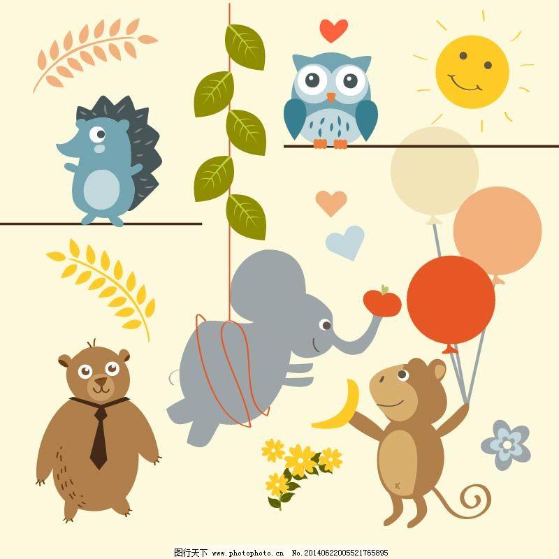 可爱的卡通动物免费下载 大象 动物 卡通 可爱 卡通 可爱 动物 大象