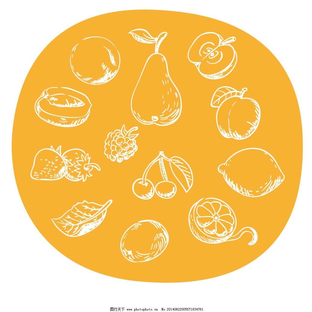 手绘的水果