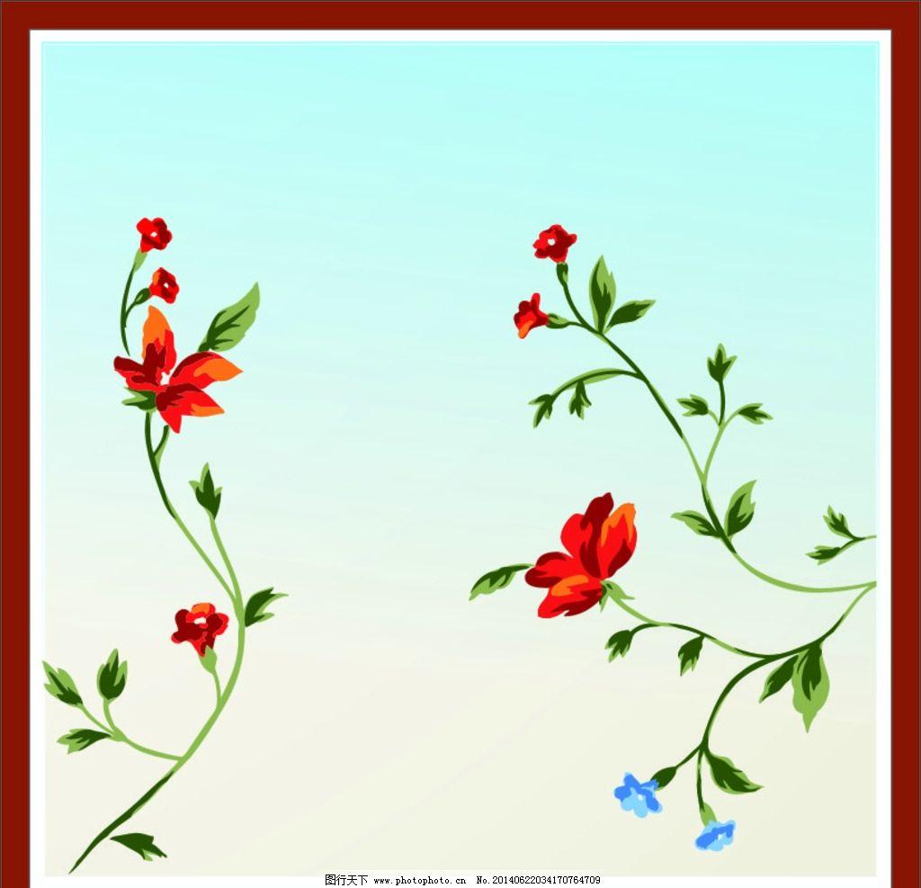 花草 绿叶 图案 背景 色彩 线条 生物世界图片