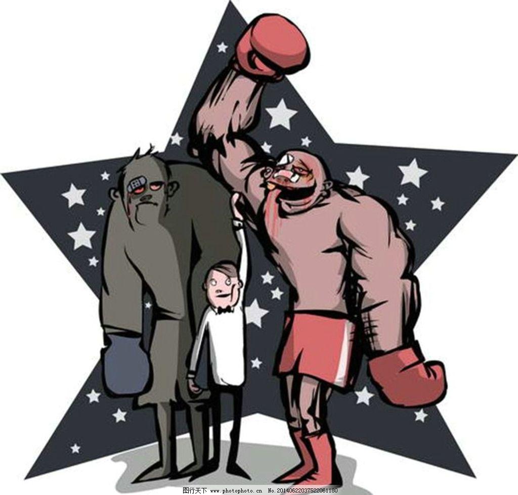 拳击 卡通动画设计 t 欧美卡通 卡通图案 卡通设计 欧美设计 t恤设计