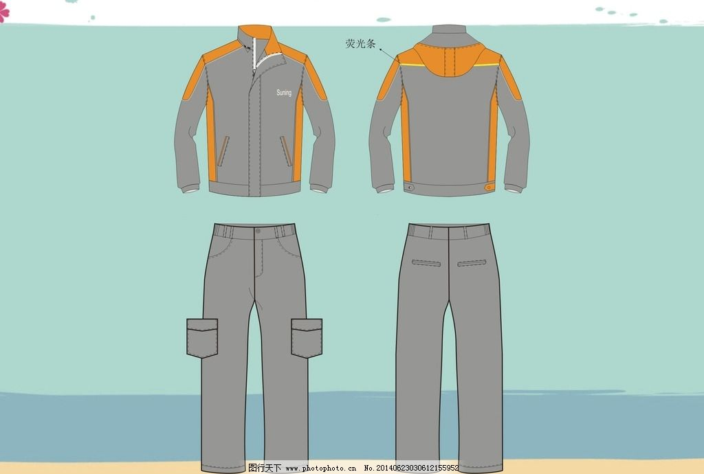 运动服 套服 上衣 外套 风衣 服装设计 广告设计 设计 180dpi cdr