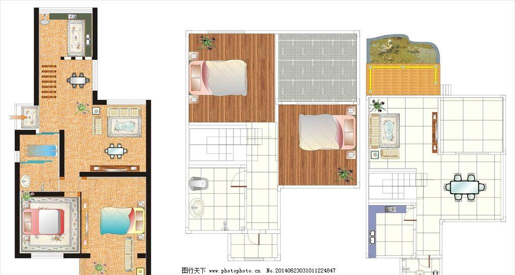 平面图 室内平面图 效果图 住房效果图 房屋装修装饰 其他 广告设计