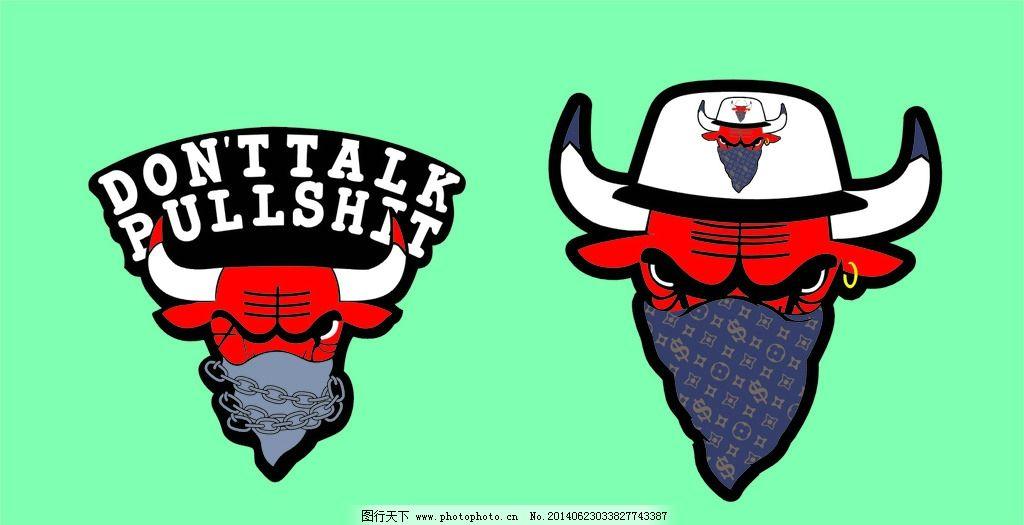 卡通 可爱的卡通 公牛 牛 卡通牛头 强盗 牛仔 图片素材 其他 设计