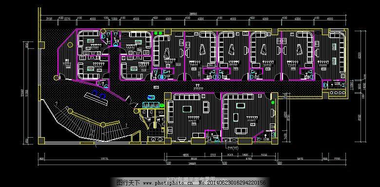 ktv装修平面图 ktv装修设计图 ktv装修设计cad图 cad素材 室内图纸