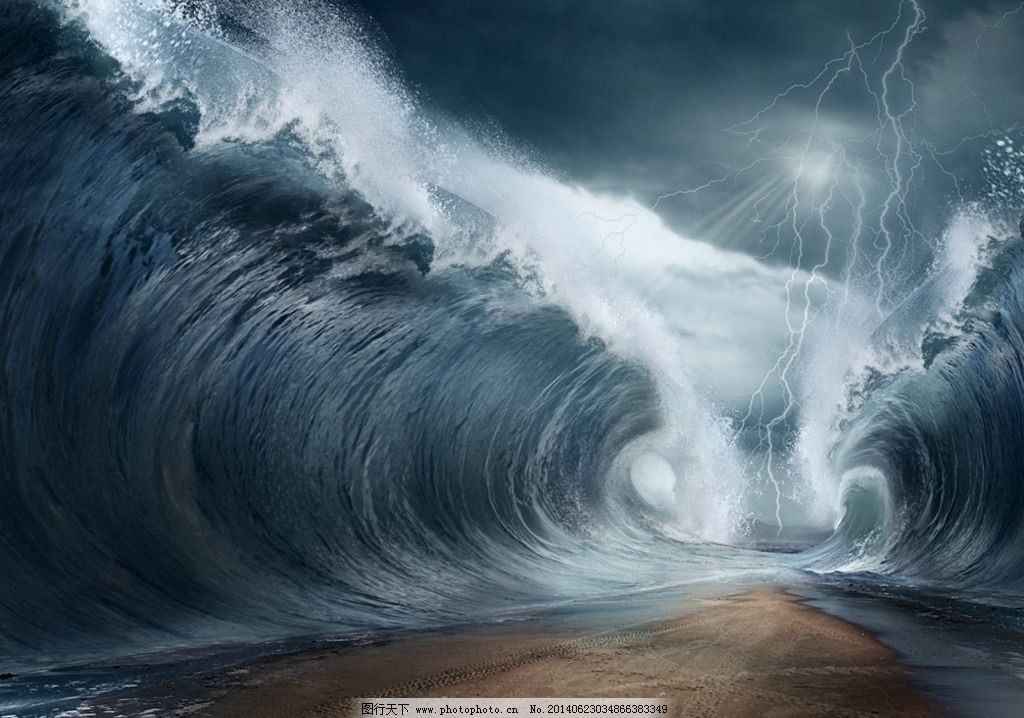 海水大浪简笔画