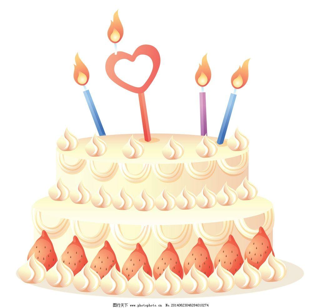 欧式简约白色蛋糕图片