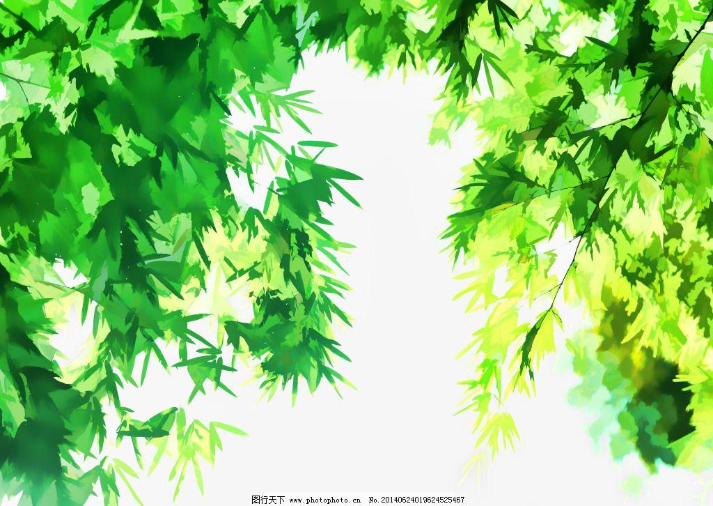 绿叶水彩艺术画免费下载 jpg 绿叶 设计 树叶 水彩画 绿叶 树叶图片