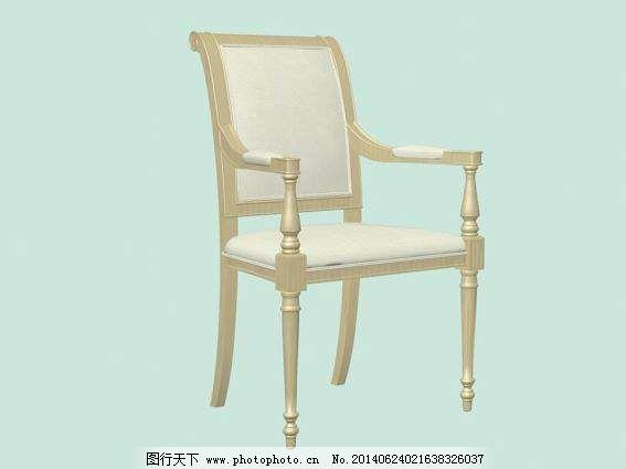 欧式椅子3d模型家具效果图 3