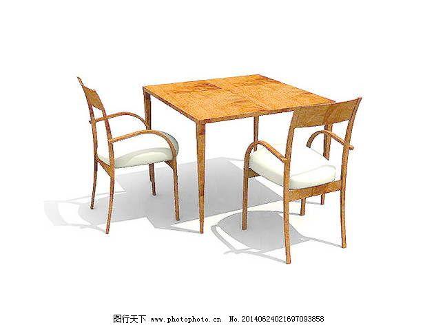 欧式椅子3d模型家具模型 74