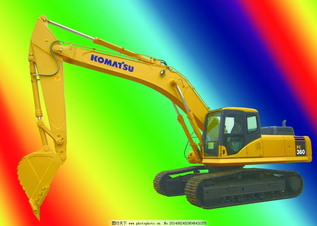 小松挖掘机 小松 挖机 360 挖掘机 日立挖机标志 广告设计 设计 180dp