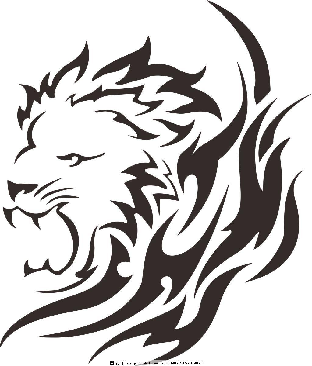 狮子头免费下载 cdr 抽象 简单 生物世界 狮子 狮子头 野生动物 狮子