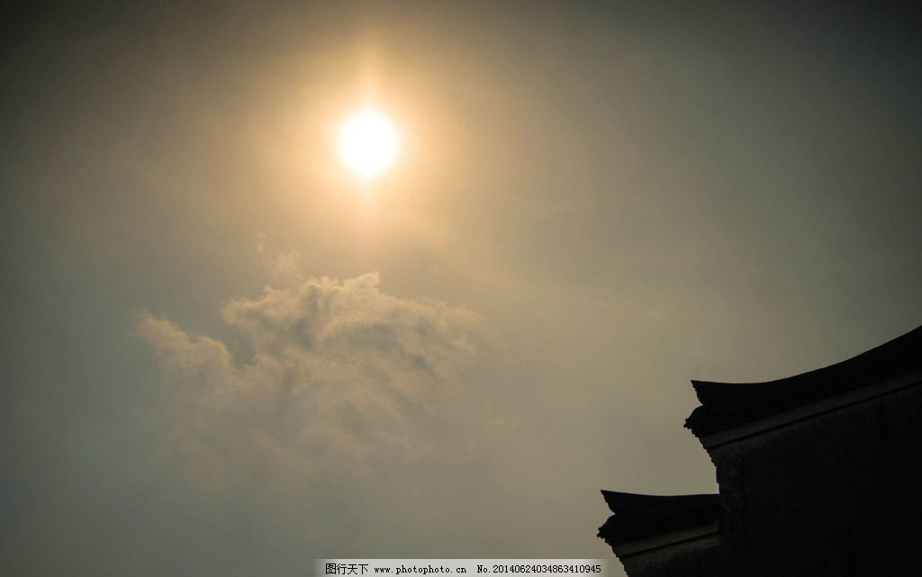 烈日 剪影 古典 古建筑 阳光 自然风景 自然景观 摄影 240dpi jpg