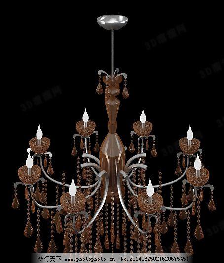 灯具 吊灯      欧式 水晶灯 水晶吊灯      无贴图 欧式 吊灯 花式
