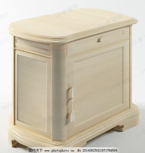 3d床头柜模型免费下载 max9 抽屉 床头柜 拉手 欧式 曲      max9 有