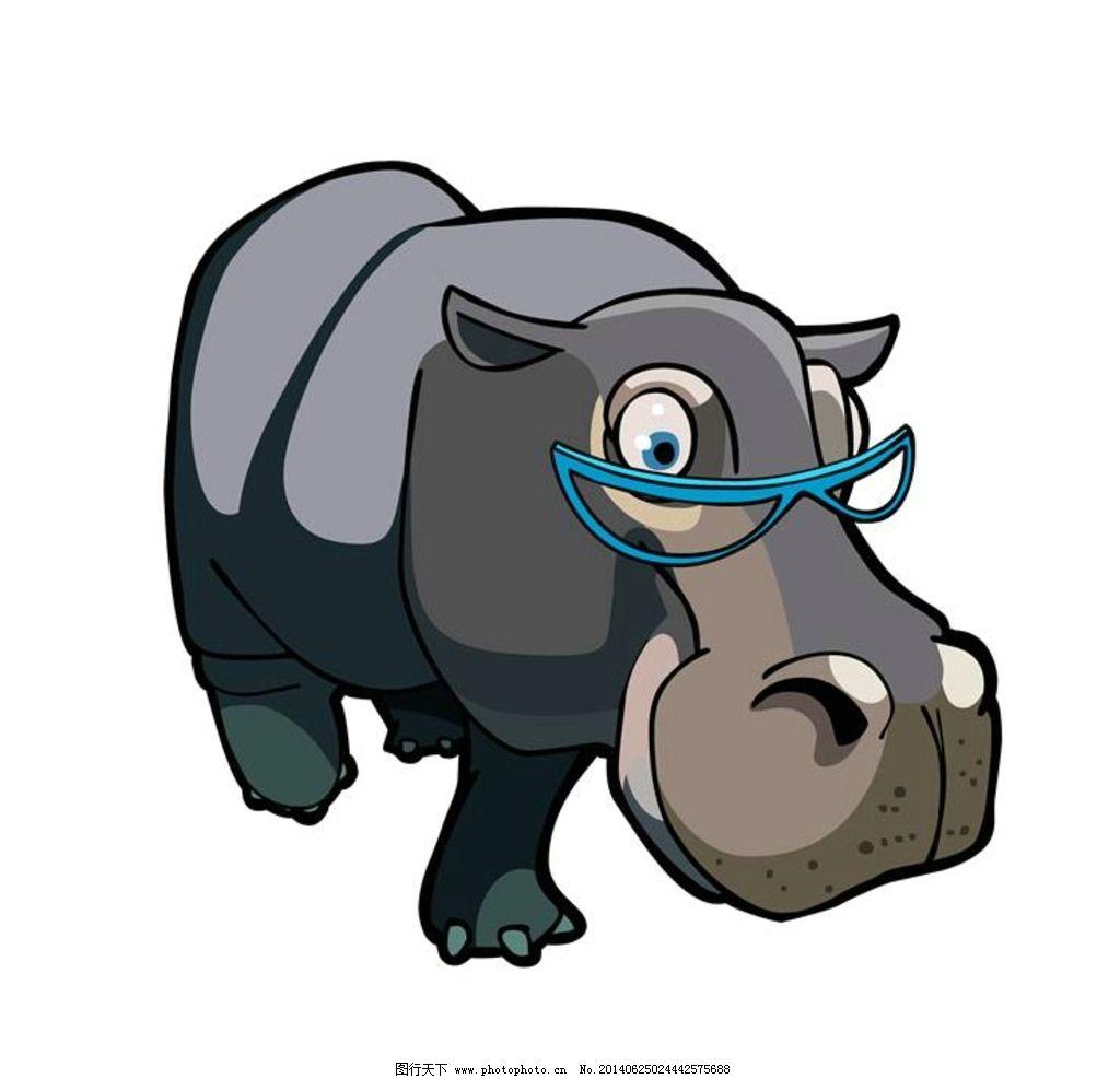 河马 卡通动物图片