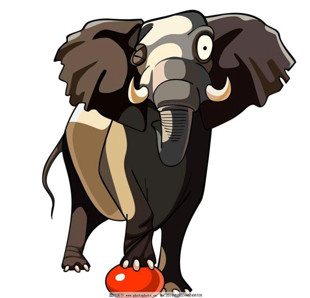 大象 卡通动物 小动物 可爱动物 非洲象 野生动物 生物世界 设计 eps