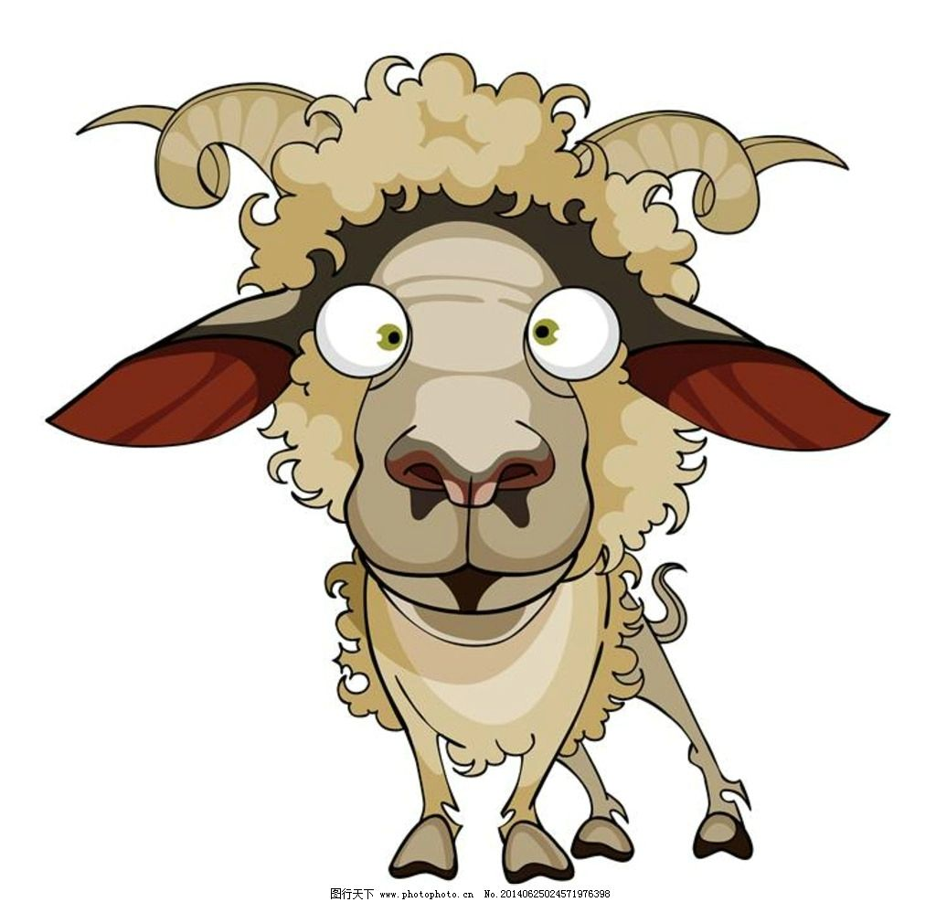 山羊 卡通动物 小动物