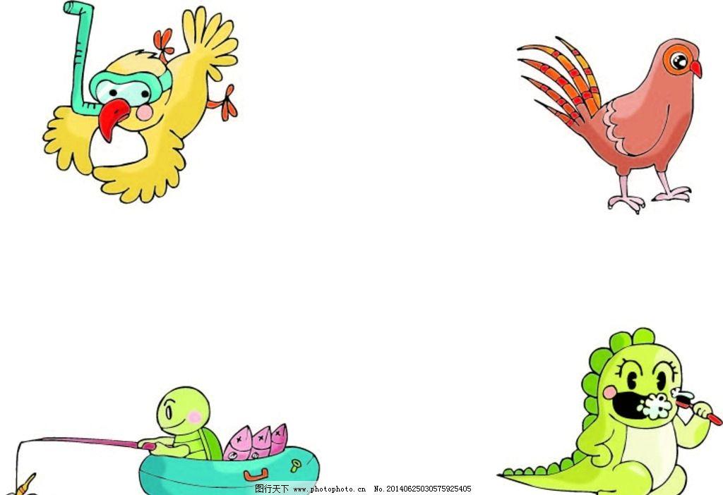 卡通动物 动物 卡通 图片