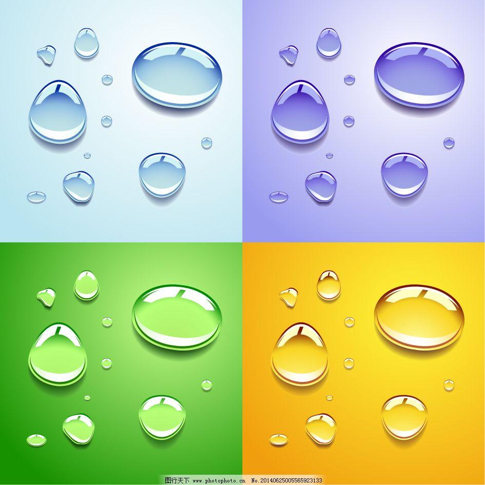 透明水滴背景矢量素材