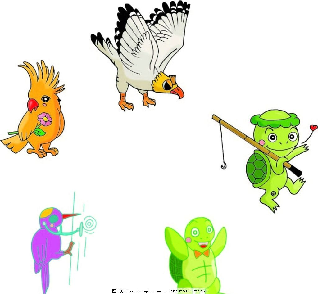 动物 卡通动物 动物大全 卡通图片_ppt图表_ppt_图行