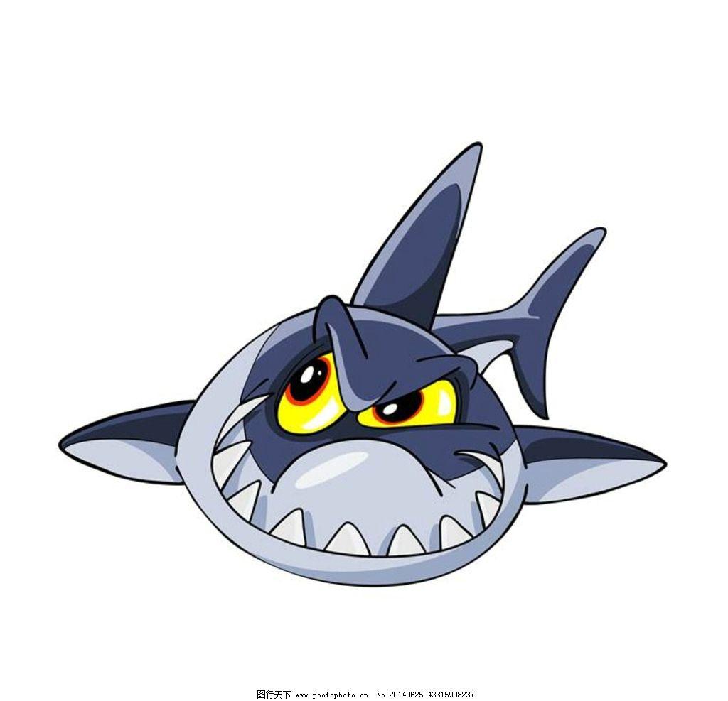 鲨鱼 卡通动物图片,海洋生物 小动物 可爱动物 卡通