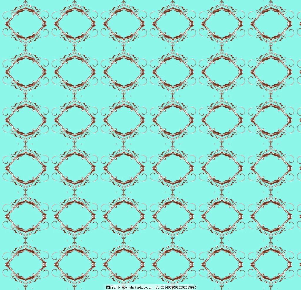 蓝色背景 墙纸 背景 底纹 欧式 青蓝色 花纹 背景底纹 底纹边框 设计
