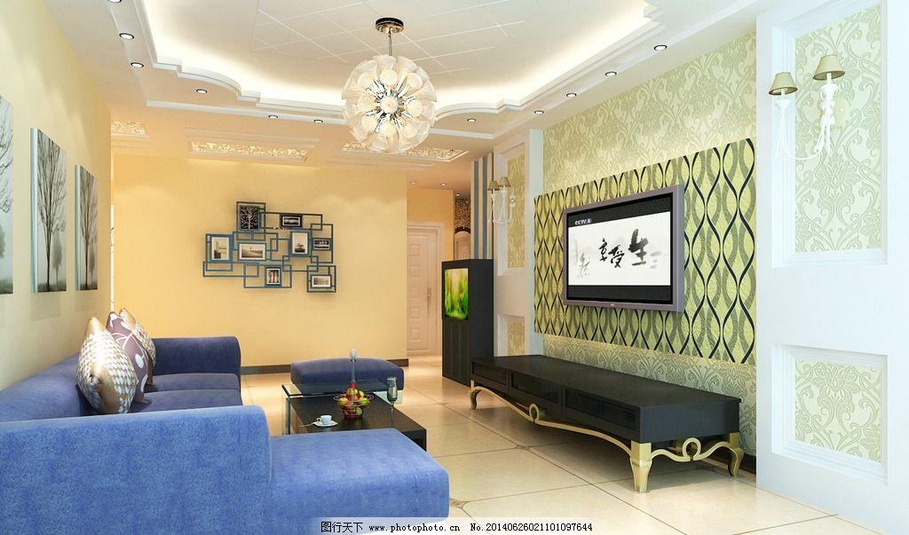 简欧客厅      简欧 欧式 电视墙 形象墙 3d作品 3d设计 设计 72dpi t