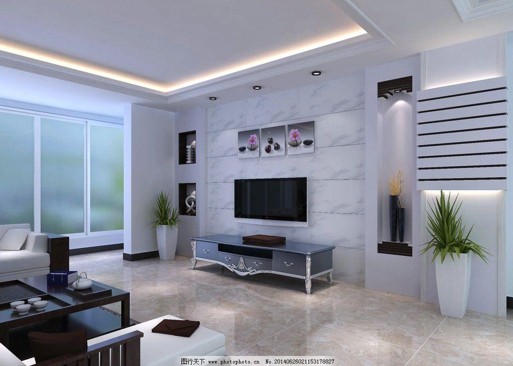 室内设计 背景墙 装修装饰 家居设计 地板设计 电视柜 大厅 3d作品 3d