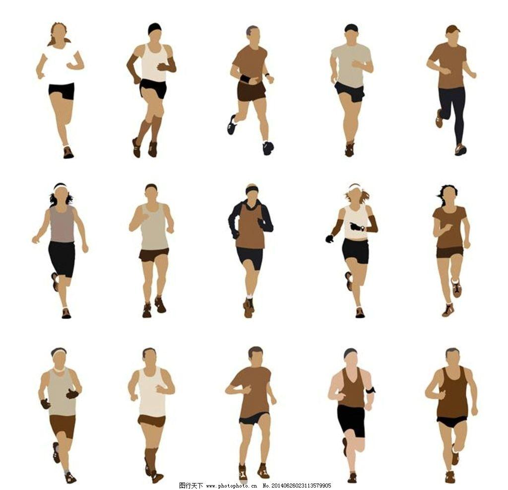 人物图库 生活人物  跑步锻炼身体 跑步 慢跑 体育 运动 体育logo