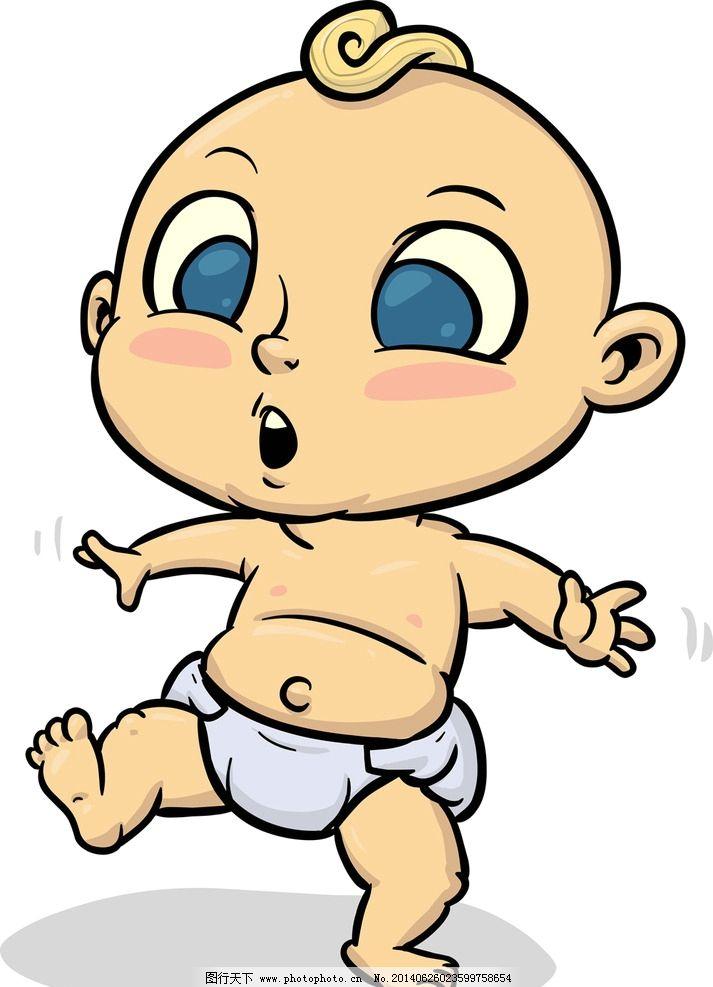 婴儿 卡通人物 小女孩 儿童 玩耍 人物 小男孩 卡通背景 卡通 手绘