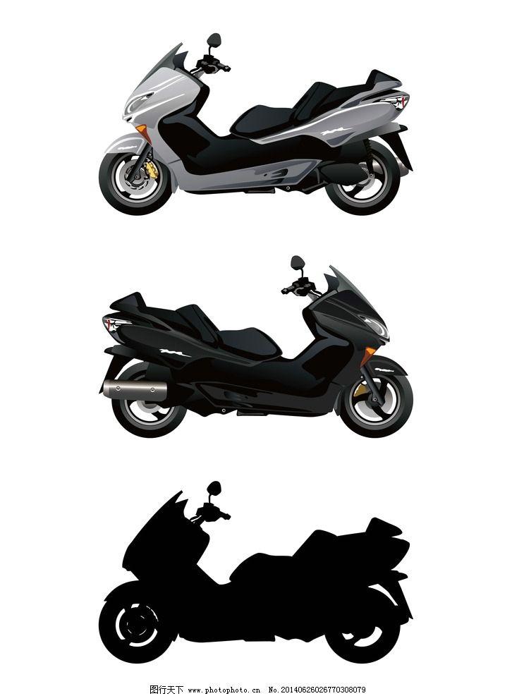 摩托车 手绘 交通工具 车 轻骑 摩托 机车 现代科技 矢量 设计 ai