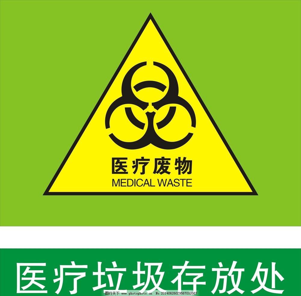 医疗废物 医疗垃圾 废弃物标志
