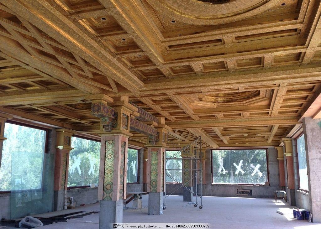 红木家具展厅吊顶装修图片