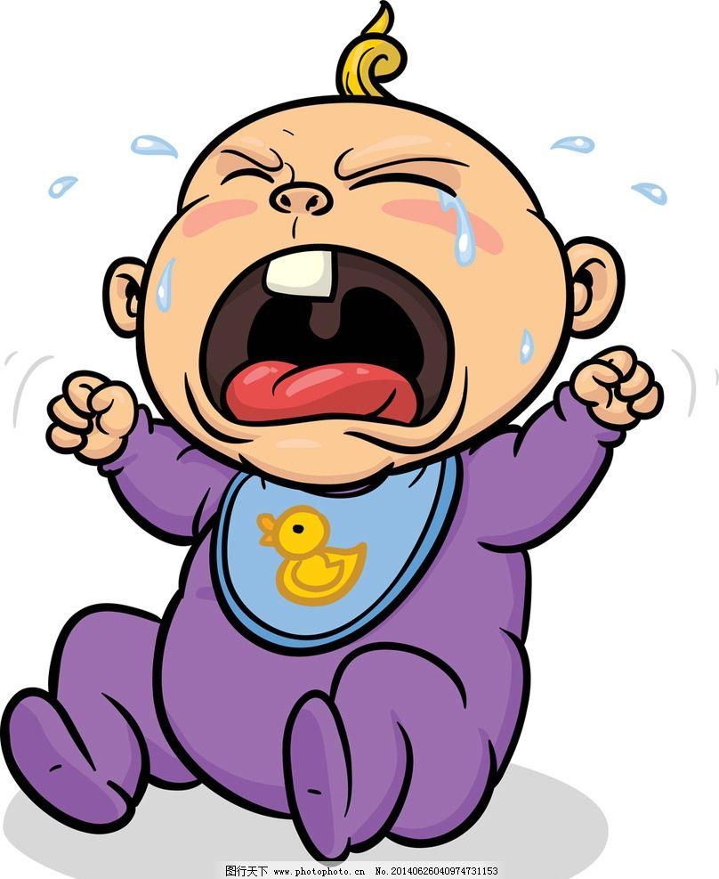 婴儿 卡通人物 小女孩 儿童 玩耍 哭 表情 人物 小男孩 卡通背景 卡通