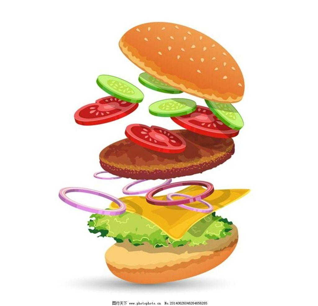 快餐 汉堡 美式快餐 快餐食品 西餐 西式快餐 麦当劳 肯德基 kfc 垃圾图片