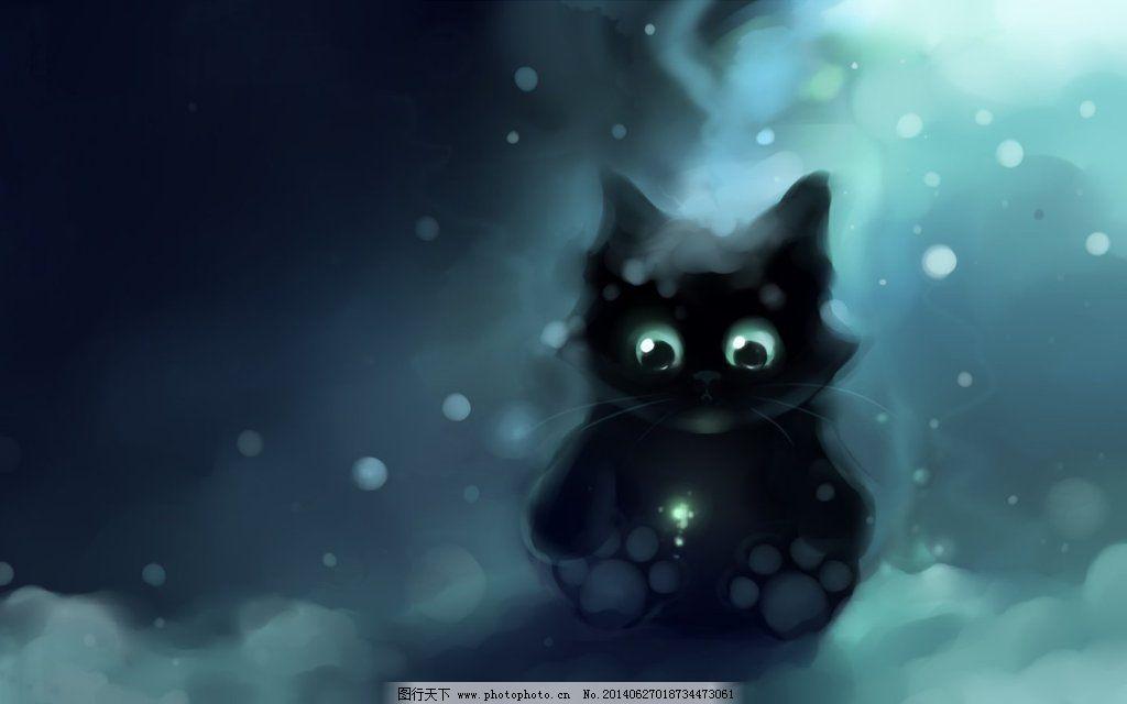 猫咪 水彩猫咪画 猫咪 猫猫水彩画 图片素材 卡通动漫可爱图片