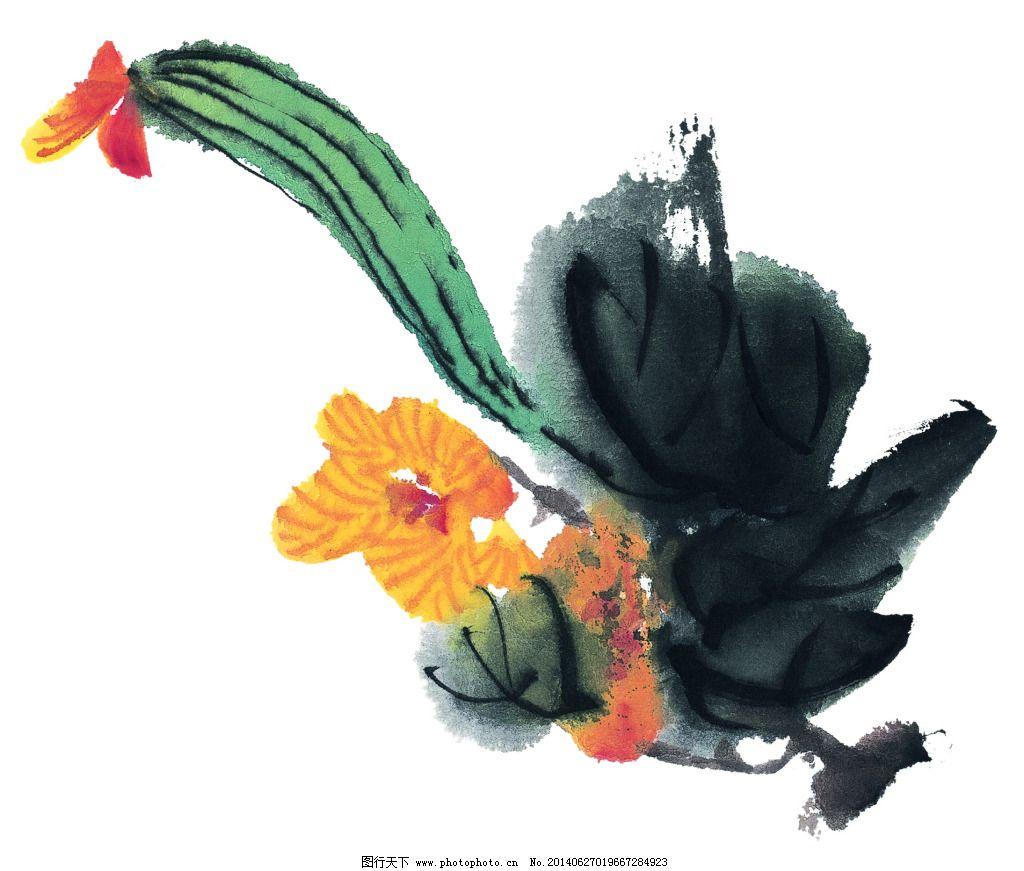 桃子 写意 艺术 中国画 绘画 工笔 国画 艺术 写意 墨染 水果 桃子
