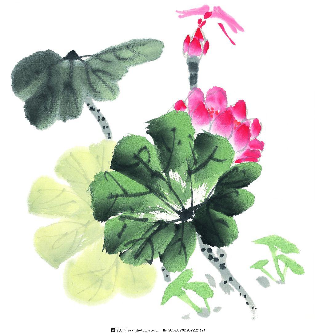 荷花 荷花免费下载 国画 绘画 水墨 中国画 咏花 图片素材 文化艺术