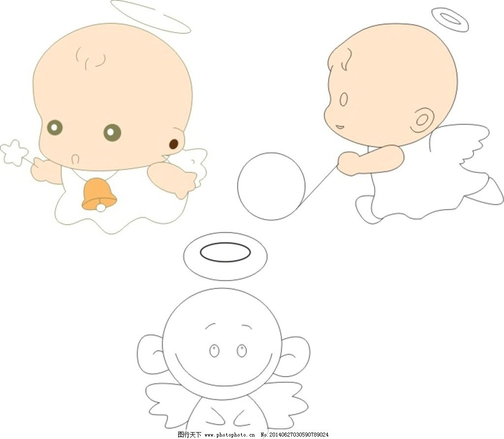可爱天使 小萌娃 玩耍的小孩 卡通 其他 动漫动画