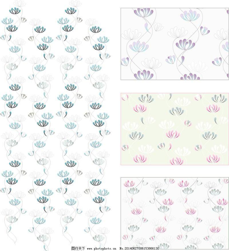 爬花eps 爬花pat 彩色 抽象花纹 底图 底纹背景 底纹边框