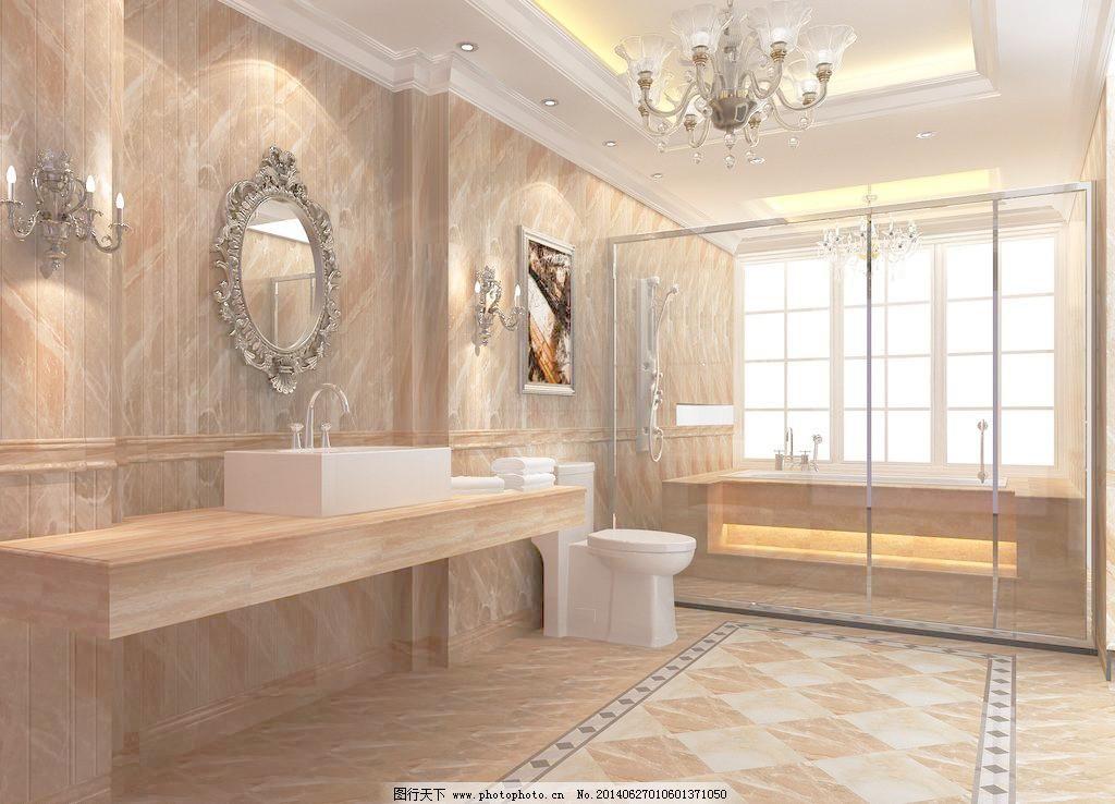 72dpi jpg 壁灯 别墅 厕所 瓷砖 吊灯 公寓 环境设计 镜子 室内卫生间图片